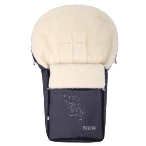 New Baby Luxusní fusak s ovčím rounem šedý