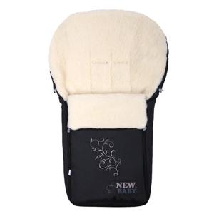 New Baby Luxusní fusak s ovčím rounem černý
