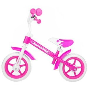 Milly Mally Dětské odrážedlo kolo Dragon s brzdou pink