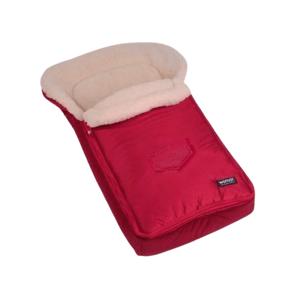 Fusák Womar s ovčím rounem červený