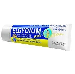 ELGYDIUM KIDS gelová zubní pasta s fluorinolem 2-6 let banán 50ml