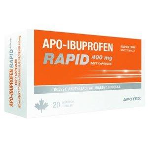 Apo-Ibuprofen Rapid 400mg perorální orální tobolky měkké 20x400mg