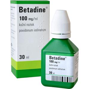 Betadine kožní roztok 30ml (H) zelený