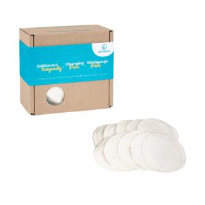 Bamboolik  Pratelné odličovací tamponky z biobavlny v dárkové krabičce 10ks