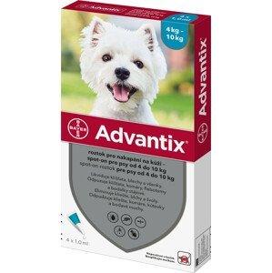 Advantix pro psy spot-on od 4 do 10kg 4x1ml