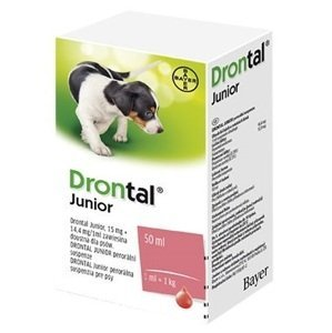 Drontal JUNIOR suspenze 50ml + aplikátor
