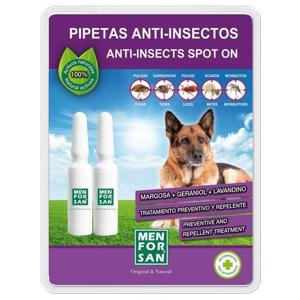 Menforsan Antiparazitní pipety proti blechám a klíšťatům pro psy 2x1,5ml