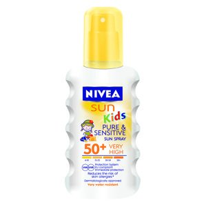 NIVEA SUN Dětský sprej na opalování Sensitive SPF50+ 200ml