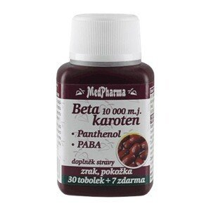 MedPharma Beta karoten 10000 m.j. s Panthenolem + PABA 37 tobolek