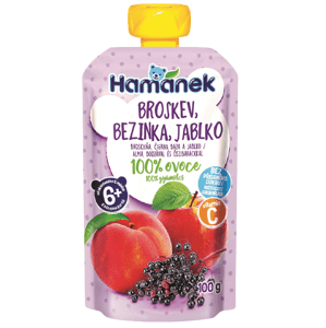 Hamánek Kapsička Broskev, bezinka, jablko 3x100g