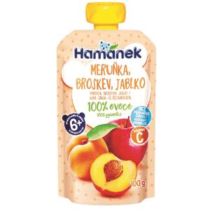 Hamánek Kapsička Broskev, meruňka, jablko 3x100g