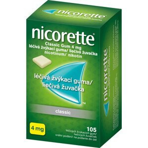 Nicorette Classic Gum 4mg léčivá žvýkací guma 105ks