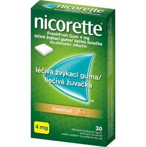 Nicorette FreshFruit Gum 4mg léčivá žvýkací guma 30ks