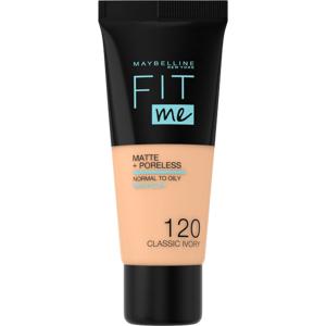 Maybelline Fit Me sjednocující matující make-up pro normální až mastnou pleť 120 Classic Ivory 30ml