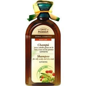 Green Pharmacy EP Šampón pro mastící se suché vlasy Ženšen 350ml