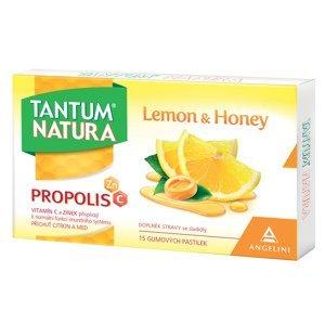Tantum Verde  Tantum Natura Lemon&Honey 15 gumových pastilek