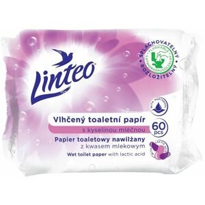 LINTEO Vlhčený toaletní papír s kyselinou mléčnou 60ks