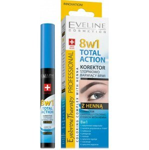 Eveline Cosmetics  Eveline Total Action korektor na obočí s henou 10ml