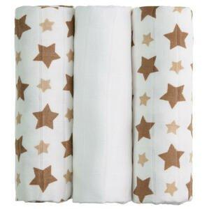 T-tomi  BIO Bambusové pleny, beige stars / béžové hvězdičky