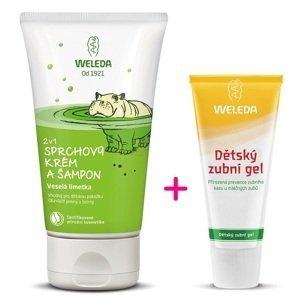Weleda  2 v 1 sprchový krém a šampon Veselá limetka