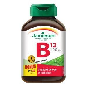 Jamieson Vitamín B12 methylkobalamin 1200μg s postupným uvolňováním 80 tablet