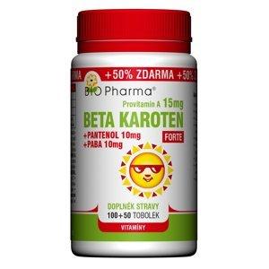 BIO Pharma Beta Karoten 15mg+Pantenol 10mg+PABA 10mg 100+50 tobolek