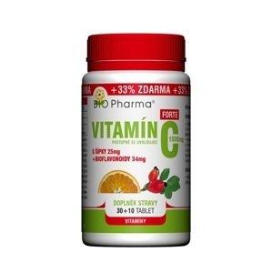BIO Pharma Vitamín C 1000mg+šípky 25mg+bioflovonoidy 34mg 30+10 tablet