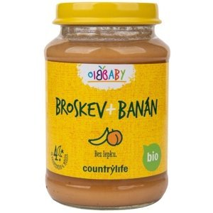 Country Life Příkrm broskev, banán BIO 190g
