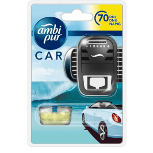Ambi Pur  AmbiPur Car strojek + Ocean Mist 7ml