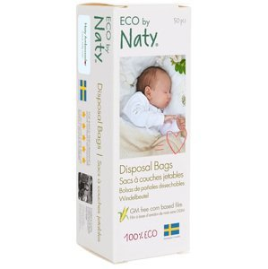 Eco by Naty  Sáčky na plenky Naty Nature Babycare bez vůně 50ks