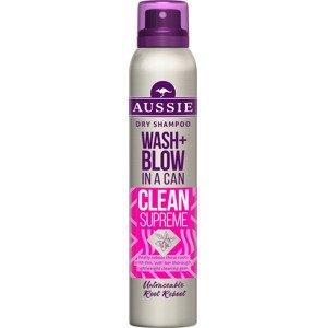 Aussie Wash + Blow Clean Supreme suchý šampon 180ml