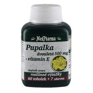 MedPharma Pupalka dvouletá 500mg+Vitamin E 67 tobolek