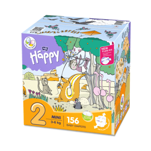 Bella Happy  Bella Baby Happy Mini Box 3-6kg 2x78ks
