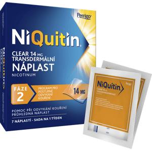 NiQuitin Clear 14 mg transdermální náplast 7ks