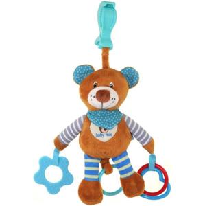 Plyšová hračka s vibrací Baby Mix medvídek modrý