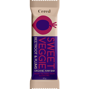 Cerea  SWEET VEGGIE Bio tyčinka Řepa & Švestka raw 45g