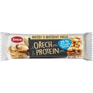 Emco Tyčinka s ořechem, proteinem, arašídy 40g