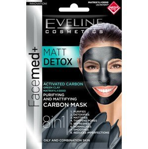 Eveline Cosmetics  Eveline Facemed Matt Detox pleťová maska 8v1 2x5ml