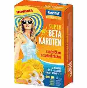 Revital Super Beta-karoten+Měsíček+Sedmikráska 40+20 tablet