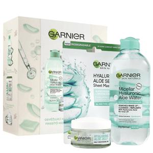 Garnier Hyaluronic Aloe dárková sada pro hydrataci pleti 3ks