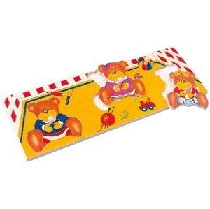 Bino  Puzzle na desce - medvědi