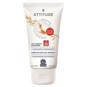 ATTITUDE 100% minerální opalovací krém SPF30 pro citlivou a atopickou pokožku bez vůně 150g