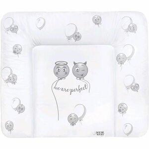 New Baby Přebalovací podložka měkká Emotions bílá 85x70cm