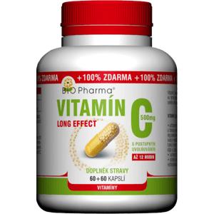 BIO Pharma  BIO-Pharma Vitamín C 500mg long effect 60+60 kapslí