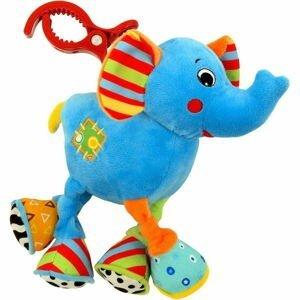 Dětská plyšová hračka s vibrací Baby Mix sloník