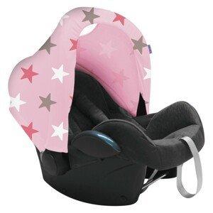 Dooky stříška Hoody Baby Pink / Pink Stars