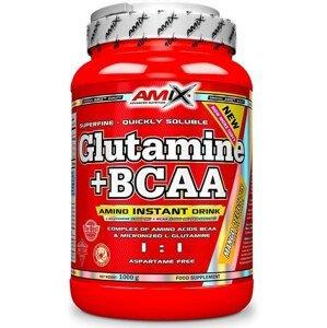AMIX L-Glutamine + BCAA - powder, Pomeranč, 1000g