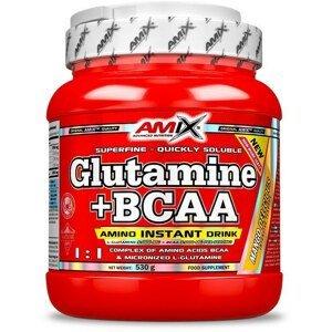 AMIX L-Glutamine + BCAA - powder, Citrón-limeta, 530g