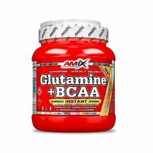 AMIX L-Glutamine + BCAA - powder, Pomeranč, 530g
