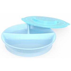Twistshake  Dělený talíř 6+m Pastelově modrá